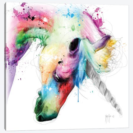 Licorne Canvas Print #PMU24} by Patrice Murciano Canvas Wall Art