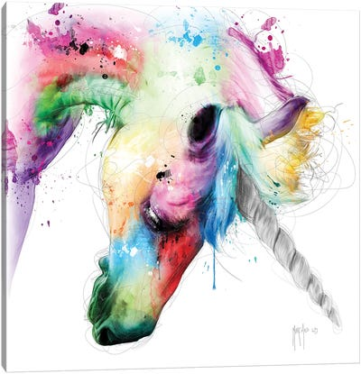Licorne Canvas Art Print