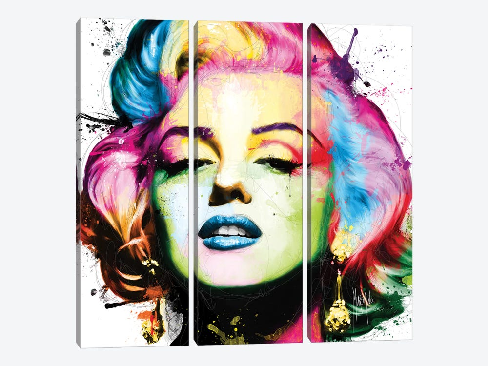 Marilyn by Patrice Murciano 3-piece Canvas Art Print