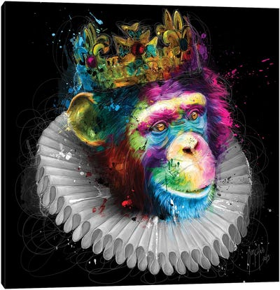 Monking Canvas Art Print