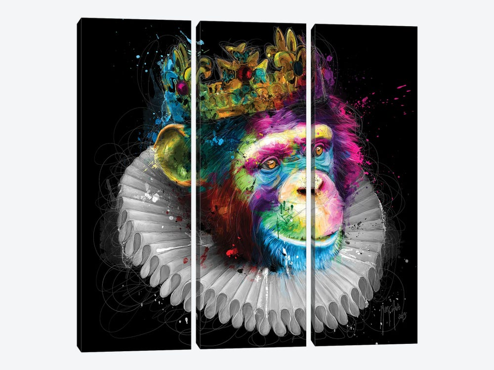 Monking by Patrice Murciano 3-piece Canvas Art Print