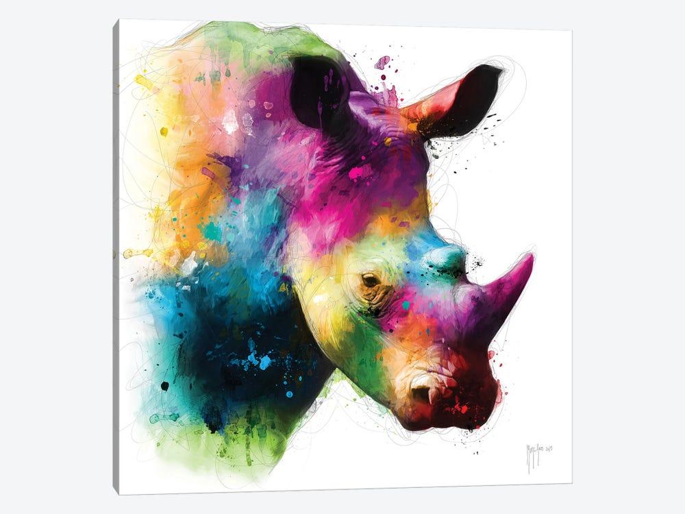 Rhinoceros by Patrice Murciano 1-piece Canvas Wall Art