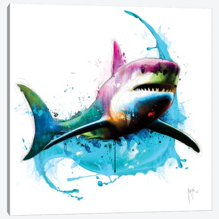 Shark Canvas Print #PMU38} by Patrice Murciano Canvas Art