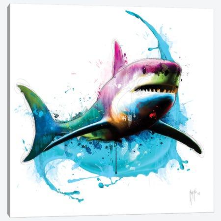 Shark Canvas Print #PMU38} by Patrice Murciano Canvas Art