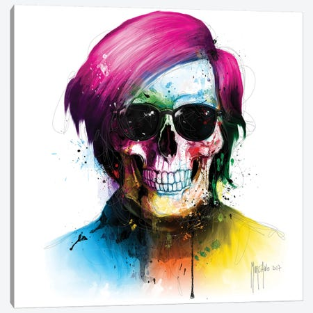 Andy Warhol Skull Canvas Print #PMU3} by Patrice Murciano Canvas Art Print
