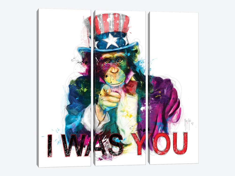 Uncle Sapien by Patrice Murciano 3-piece Canvas Art
