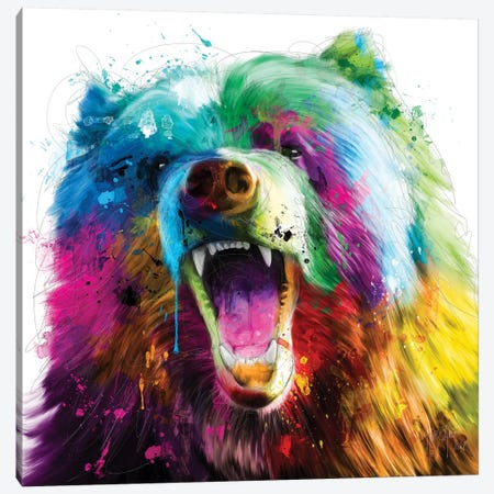 Bear Pop Canvas Print #PMU54} by Patrice Murciano Art Print