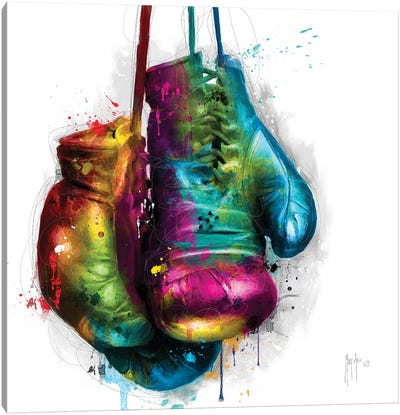 Boxing Canvas Art Print