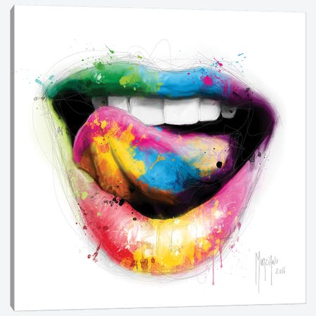 Baiser Sucré Canvas Print #PMU5} by Patrice Murciano Canvas Artwork
