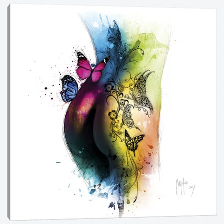 Butterfly Tattoo Canvas Print #PMU60} by Patrice Murciano Art Print