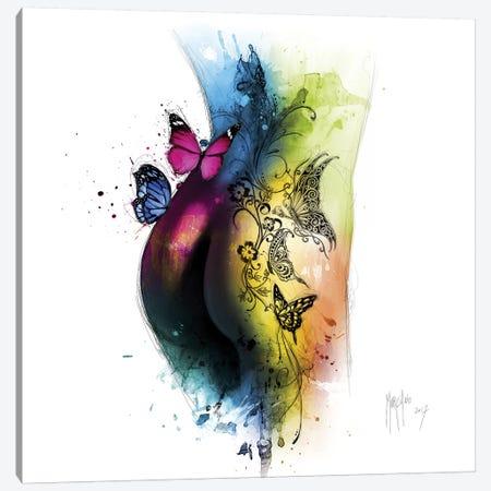 Butterfly Tattoo Canvas Print #PMU60} by Patrice Murciano Art Print