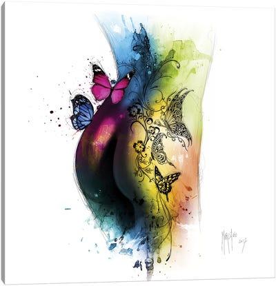 Butterfly Tattoo Canvas Art Print