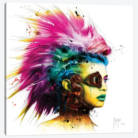 Cyber Punk I 3-Piece Canvas #PMU69} by Patrice Murciano Art Print