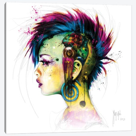 Cyber Punk II 3-Piece Canvas #PMU70} by Patrice Murciano Canvas Art