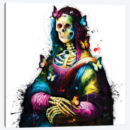Da Vinci Skull Canvas Print #PMU72} by Patrice Murciano Canvas Art