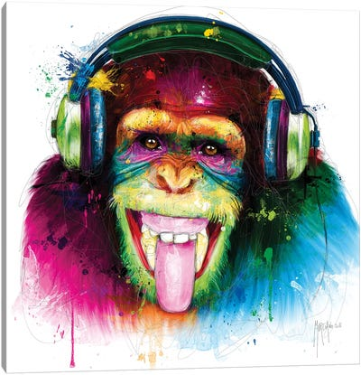 Dj Monkey Canvas Art Print