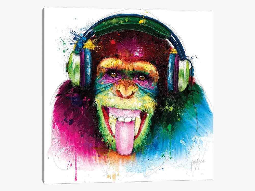 Dj Monkey by Patrice Murciano 1-piece Canvas Art Print