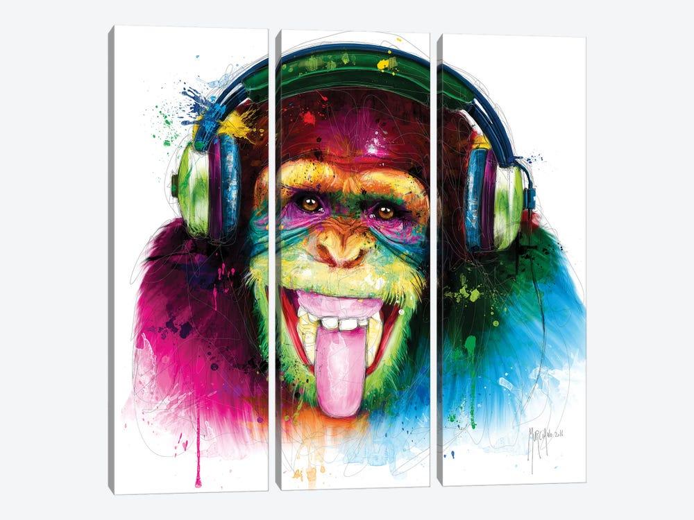 Dj Monkey by Patrice Murciano 3-piece Art Print