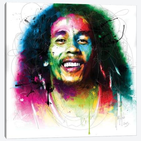 Bob Marley Canvas Print #PMU7} by Patrice Murciano Canvas Artwork