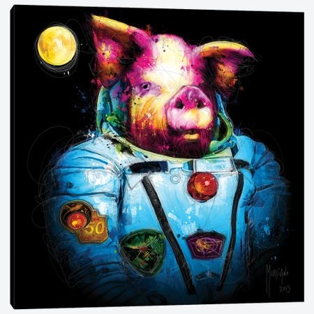 First Pig In Space Canvas Print #PMU80} by Patrice Murciano Art Print