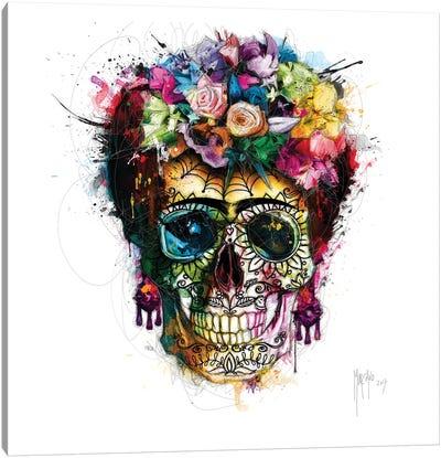 Frida Kahlo Skull Canvas Art Print