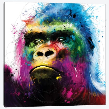 Gorilla Canvas Print #PMU89} by Patrice Murciano Canvas Print