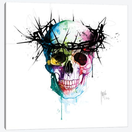 Jesus's Skull Canvas Print #PMU92} by Patrice Murciano Canvas Art