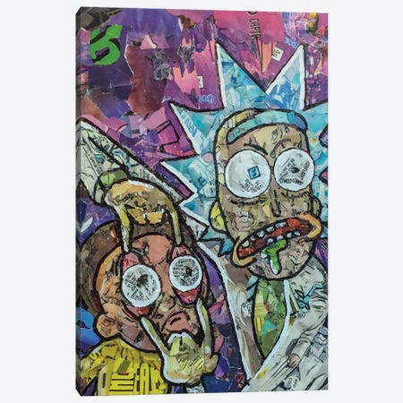 Vertical Rick And Morty Canvas Print #PMY13} by p_ThaNerd Canvas Art