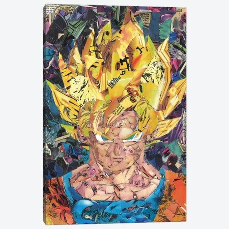 Goku Comic Collage II Canvas Print #PMY18} by p_ThaNerd Canvas Art