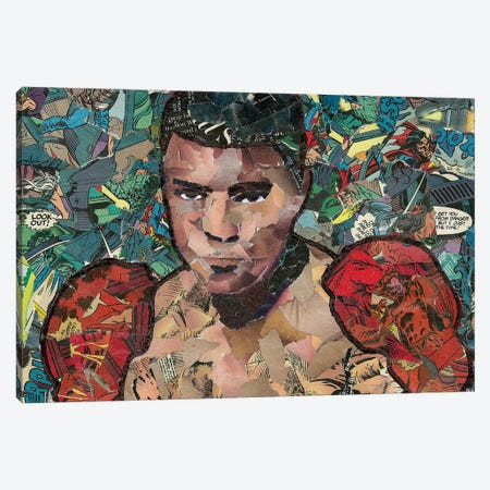 Ali Comic Collage Canvas Print #PMY19} by p_ThaNerd Canvas Wall Art