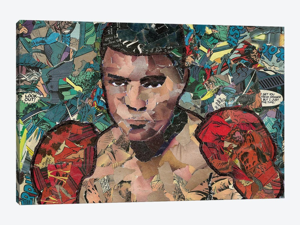 Ali Comic Collage by p_ThaNerd 1-piece Canvas Wall Art