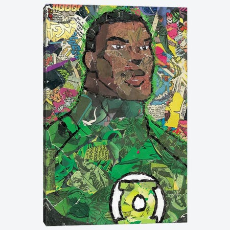 John Stewart Canvas Print #PMY22} by p_ThaNerd Canvas Art Print