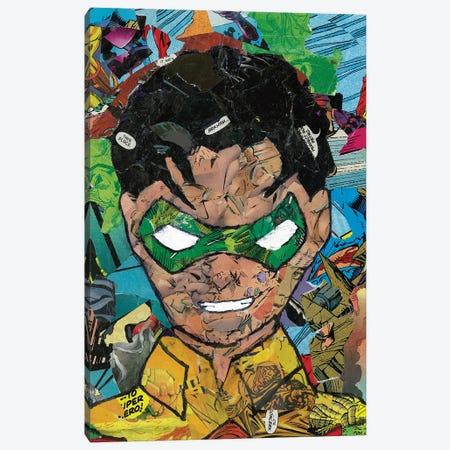 Robin Comic Collage Canvas Print #PMY29} by p_ThaNerd Art Print