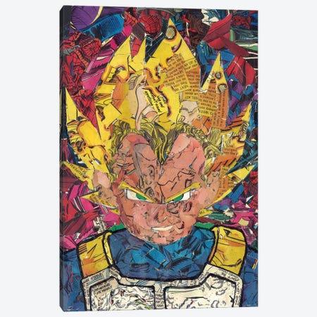 Prince Vegeta II Canvas Print #PMY34} by p_ThaNerd Canvas Print