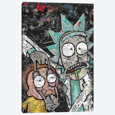 Rick And Morty Canvas Print #PMY35} by p_ThaNerd Canvas Art Print