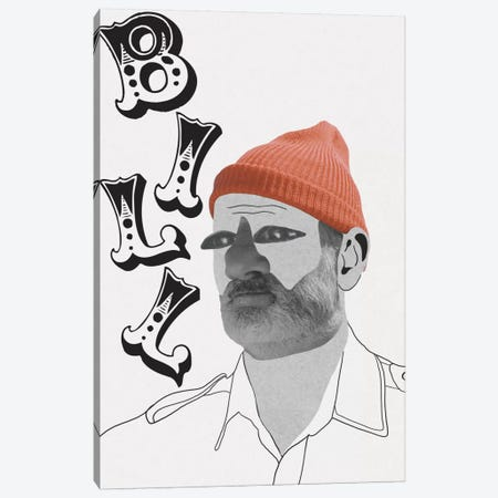 Bill Is A Nut Canvas Print #PNA2} by 5by5collective Canvas Print