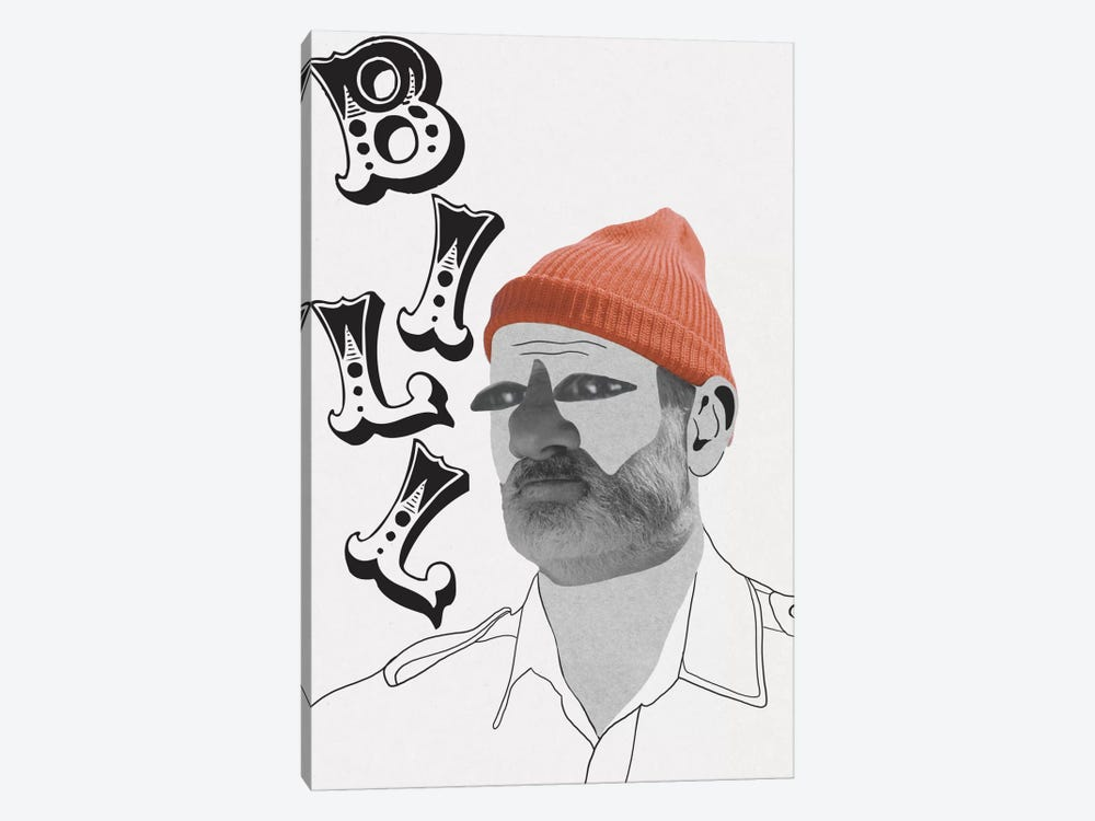 Bill Is A Nut by 5by5collective 1-piece Canvas Print