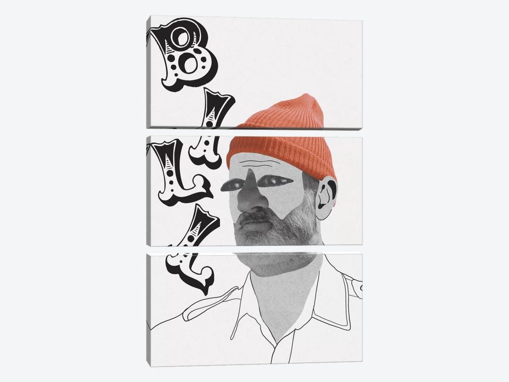 Bill Is A Nut by 5by5collective 3-piece Canvas Art Print
