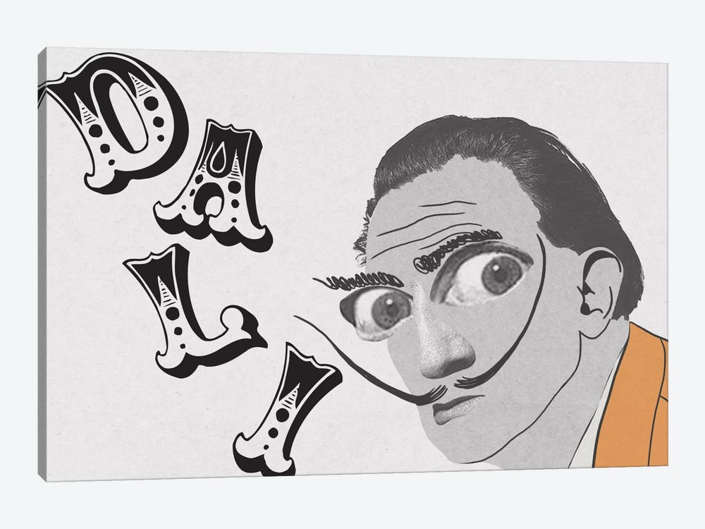 Dali Living Life by 5by5collective 1-piece Canvas Wall Art