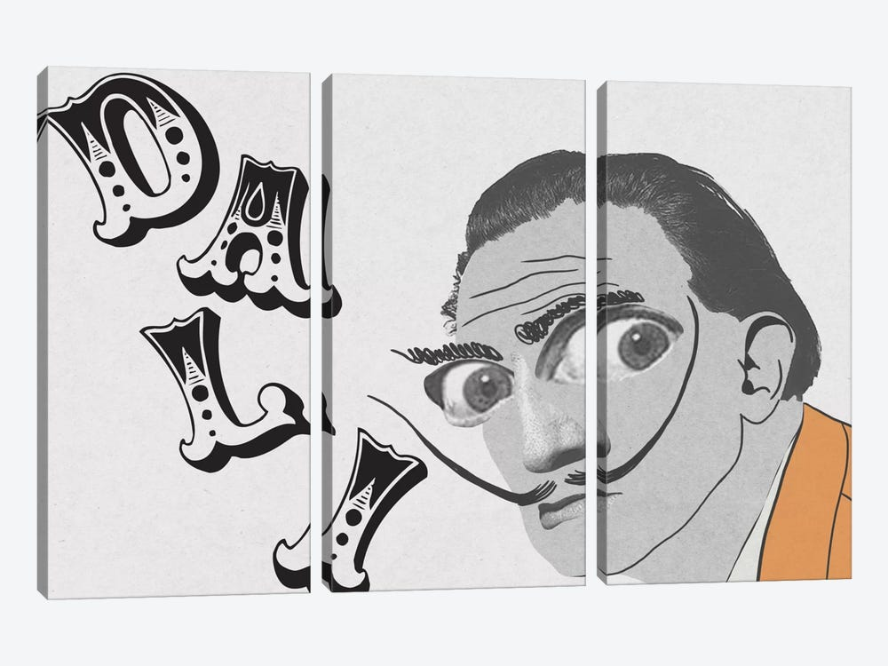 Dali Living Life by 5by5collective 3-piece Canvas Artwork