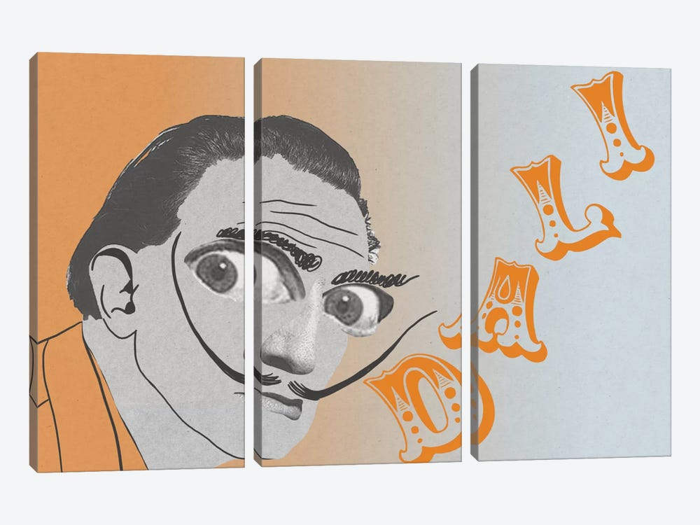 Dali Visions by 5by5collective 3-piece Canvas Art Print