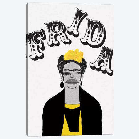 Frida In Yellow Canvas Print #PNA8} by 5by5collective Canvas Art Print