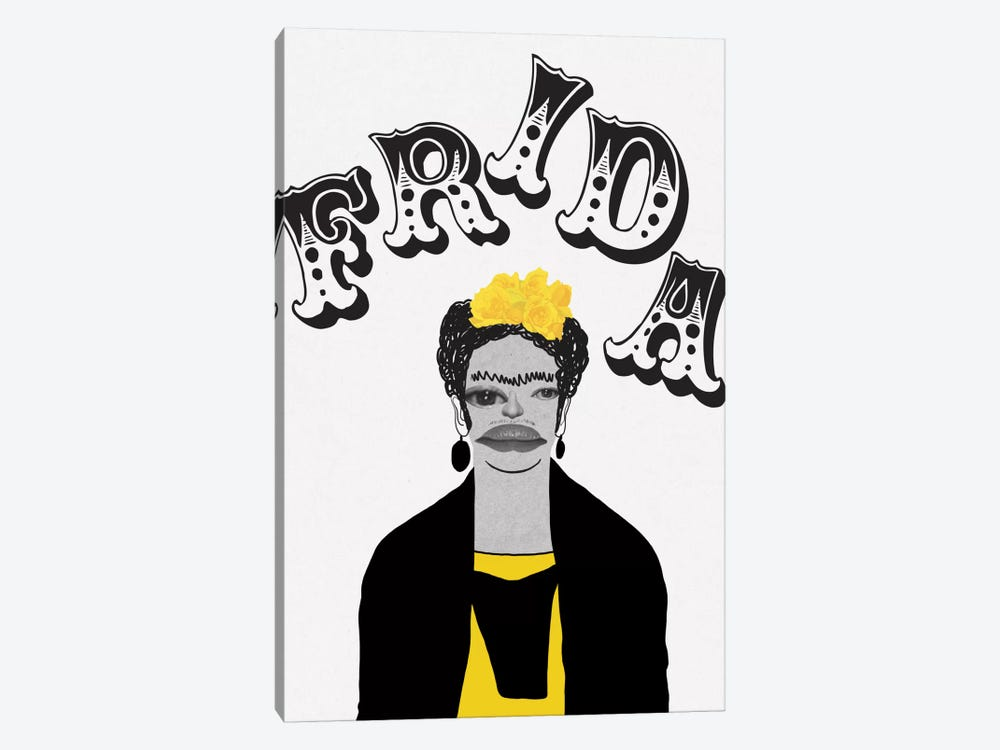Frida In Yellow by 5by5collective 1-piece Canvas Art Print