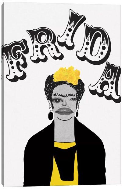 Frida In Yellow Canvas Art Print