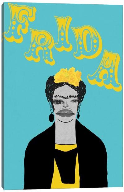 Frida With Flowers Canvas Print #PNA9
