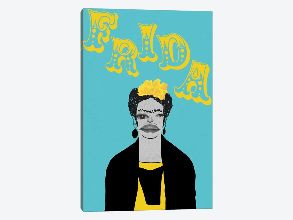Frida With Flowers by 5by5collective 1-piece Canvas Art