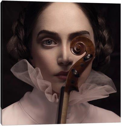The Dark Violinist Canvas Art Print