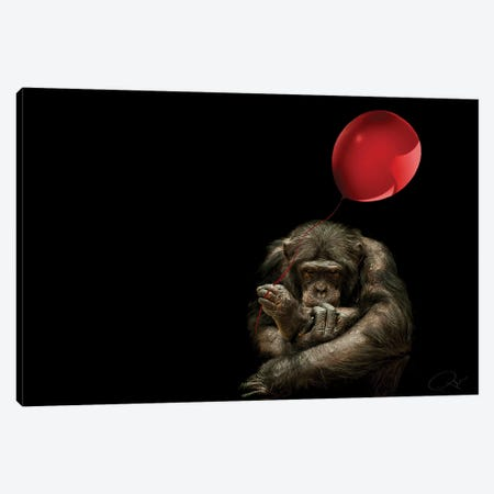 Girl With Red Balloon Canvas Print #PNE14} by Paul Neville Canvas Print
