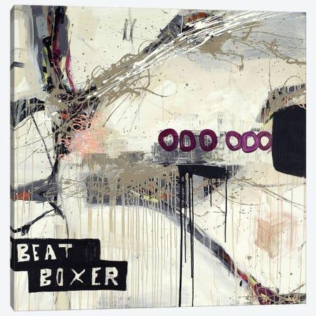 Boxer Canvas Print #PNK1} by Sean Punk Art Print