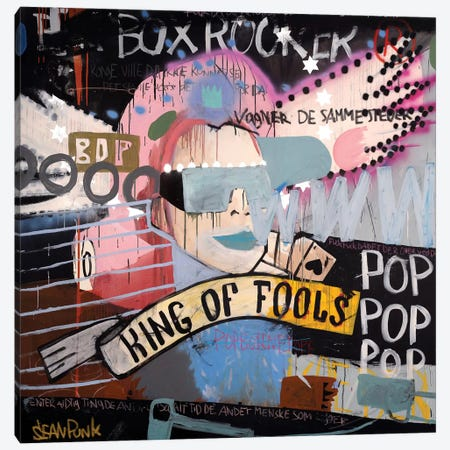 King Of Fools Canvas Print #PNK5} by Sean Punk Canvas Art